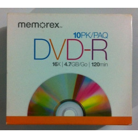 Cd Memorex Dvd-r De 120 Minutos 4.7gb 16x