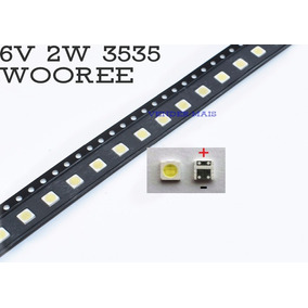Led Wooree 3535 2w 6v Tv Lg Philips C/30 Unidades