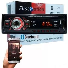 Auto Rádio Mp3 Player Auxiliar Controle Sd Usb Fm Bluetooth