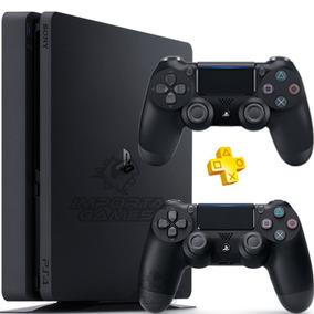 Playstation 4 Ps4 Slim 500gb + 2 Controles Bivolt