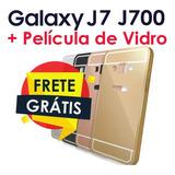 Capa Galaxy J7 J700 Case Anti Impacto Shock + Pelicula Vidro
