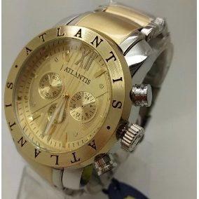 e66bbe00162 Relogio Masculino Dourado Atlantis Grandes - Joias e Relógios no ...