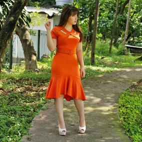 Vestido Sino Com Detalhe Na Gola Moda Evangélica Ticiane 009