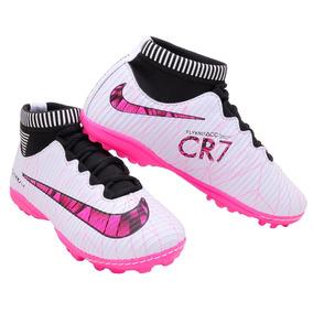 1bf89bf68ba2c Chuteira Nike Mercurial Rosa E Roxo - Chuteiras Nike de Society no ...