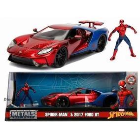 Ford Gt 2017 Com Figura Spider Man Avengers 1:24 - Jada