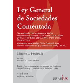 Ley General De Sociedades Comentada - Erreius