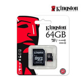 Memoria Micro Sd+adaptador 64 Gb Kingston Clase 10