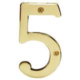Numero Para Casa 5 Laton Solido 4 Pulgadas Hermex