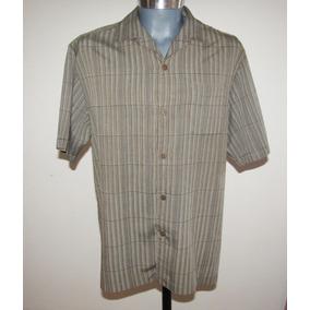 Padrisima Camisa Rayada Tommy Bahama Talla M 100% Seda