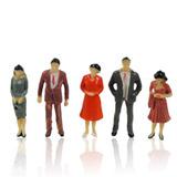 20 Mini Pessoas Miniaturas Maquetes Terrários 1:50 (3,5cm)