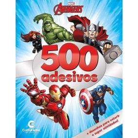 Livro Colorir Com 500 Adesivos Os Vingadores Pct 10 Unidades