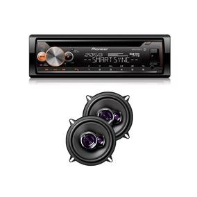 Kit Cd Player Deh-x500br + Falante Pioneer 5 Pol Ts-1360br