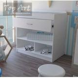 Cambiador De Bebe - Mueble De Melamina - Organizador De Ropa