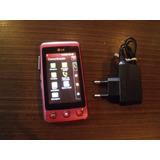 Celular Lg Kp570 Rosa Usado