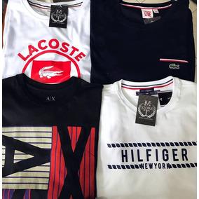 4769256aadbf9 Lote De Camisetas Armani E Lacoste - Calçados, Roupas e Bolsas no ...