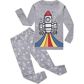 Ninos Aeroplano Pijamas Ninos Navidad Ropa De Dormir Pantalo