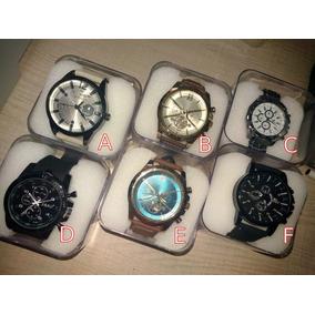 Relógio Masculino Luxo Vários Modelos + Estojo Acrílico