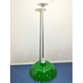 Luminaria Industrial Aluminio Verde Soquete Suporte Sinuca