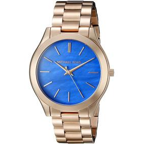 927120c2ac244 Relogio Mk Slin Dourado - Relógios De Pulso no Mercado Livre Brasil