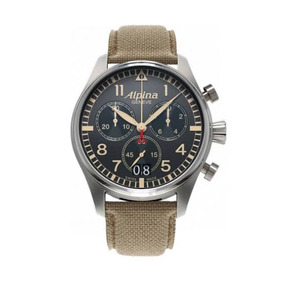 Reloj Alpina Pilot Chrono Big Date Camouflage Grey Swiss