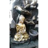 Fuente De Agua Para Interior, Buda Gold Con Luz