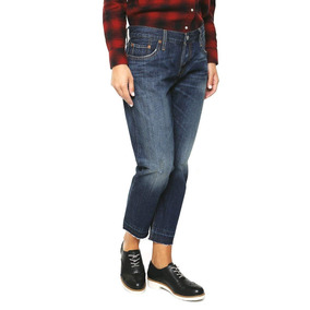 Levis Jeans 501 Azul Mujer Talla 25x32 Cropped And Tapered