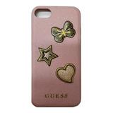 Funda Protector Guess Patch Rose Original iPhone 6 7 8 Plus