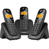 Telefone Sem Fio Ts3113 + 2 Ramais Id. De Chamadas Intelbras