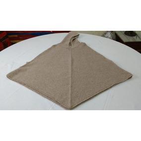 Poncho Bege, Em Pura Lã. Feminino,(português ) Tamanho M