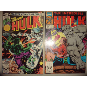 Lote Incrivel Hulk 250 E 373 Marvel Comics Originais Excelen