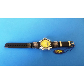 Relógio Aqualand Atlantis A3220 Borracha Amarelo Original
