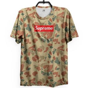 Camo Ape Supreme Camiseta Camuflado 3d Rap Trap Hype Lil Top 2bbba62028b