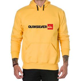 Blusa Moleton Quiksilver - Moletom Masculinas Amarelo no Mercado ... 95efcb38f7