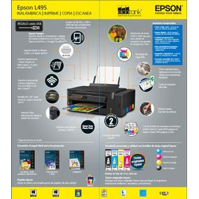 Impresora Multifuncional Epson L495 Tinta Continua 3 En 1