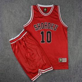 b8272980cb Uniforme Camiseta Original Slam Dunk Shohoku 10 Basquete. R  135