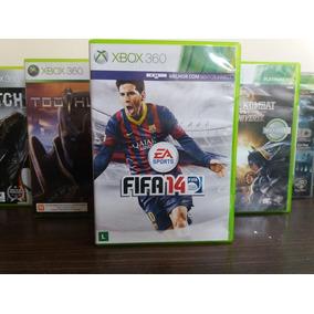 Jogo De Futebol Fifa 14 Xbox 360 Original Mídia Em Português