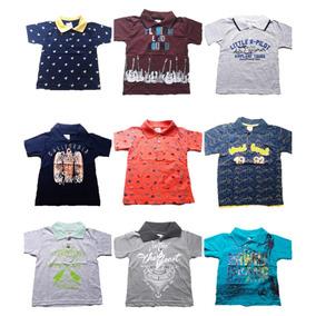 Kit Lote 5 Camisetas Gola Polo Infantil P Bebe A 3 Anos Atac