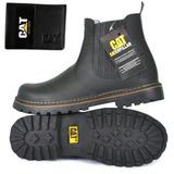 db1f8e56f5685 Botina Cat Bota Couro+carteira Resistente Construção Civil