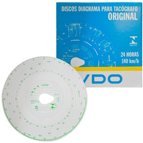 Disco Diagrama Tacógrafo Diário 140 Km 24 H 100 Unidades Vdo