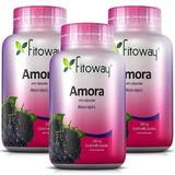 Amora 500mg - Controle Da Menopausa Fitoway 3x60 Capsulas