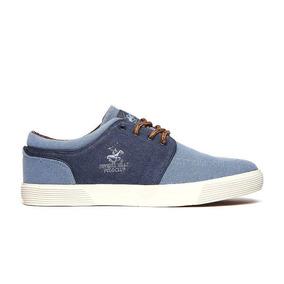 Polo Club - Tenis Casual Hombre Azul Nz33-lo-jeans-b