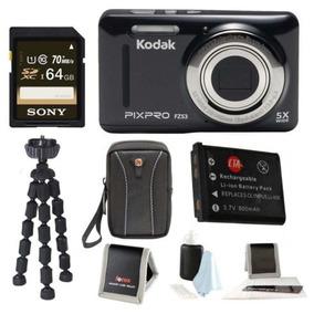 Ambiente Pixpro Kodak Zoom Fz53 (negra) + Sony 64gb Clase 10