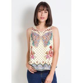 65c0080f7c Cropped Borboleta Farm - Camisetas e Blusas no Mercado Livre Brasil