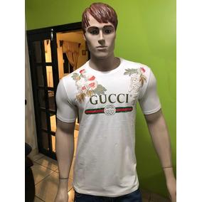 d2254aee016a9 Playera Gucci Bordada Flores Caballero Talla Grande Y Xl