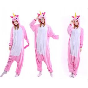 Piijama Mameluco Kigurumi Unicornio Disfraz Lila Rosa Adulto