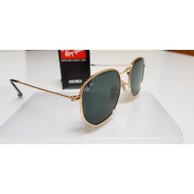 Óculos Sol Ray-ban Hexagonal Flat Lens Metal Rb3548n Preto 168ac1ded0