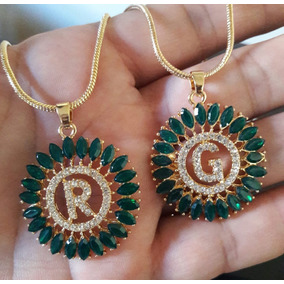 Mandala Letras Verde E Preta
