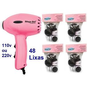 Pedicuro Esfoliador Lixa Elétrica Pés + 48 Lixas Rosa Pink