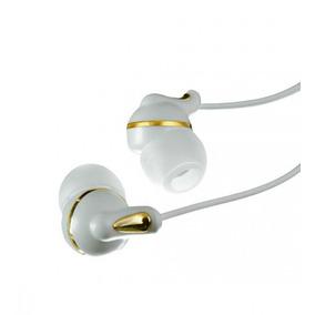 Fone De Ouvido Bomber Intra Auricular Branco/dourado - Eb50