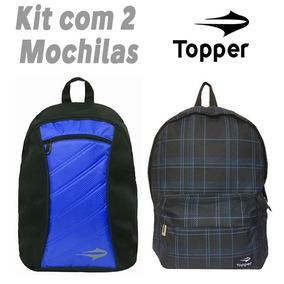 Mochila Topper (kit 2 Peças) Original 12x Sem Juros